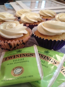 Peppermint Tea Cupcakes