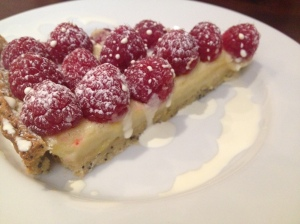 Lemon & Raspberry Tart with Poppy Seed Pastry