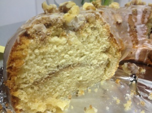 Maple & Walnut Streusel Cake