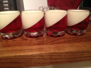 Panna Cotta and Raspberry Jelly