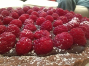 Chocolate and Raspberry Tart